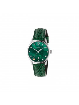 GUCCI Orologio donna G-Timeless SM29 pelle verde