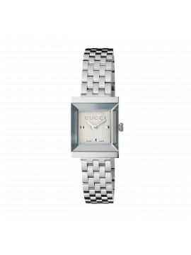 GUCCI G-FRAME STAINLESS STEEL WATCH, SQUARE VERSION
