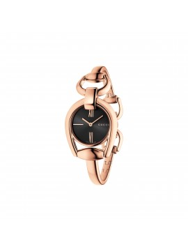 GUCCI HORSEBIT ROSE GOLD PVD STAINLESS STEEL BANGLE WATCH