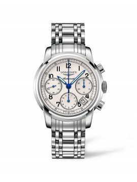 LONGINES SAINT IMIER AUTOMATICO, BIANCO AND STRAP IN STEEL