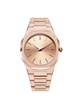 D1 MILANO ULTRA THIN 38 MM CASE AND ROSE GOLD BRACELET
