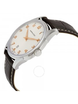 HAMILTON JAZZMASTER THINLINE QUARTZ BROWN LEATHER