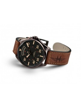 HAMILTON KHAKI AUTOMATIC LEATHER STRAP