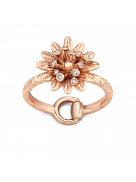 GUCCI ANELLO FLORA ORO DIAMANTI