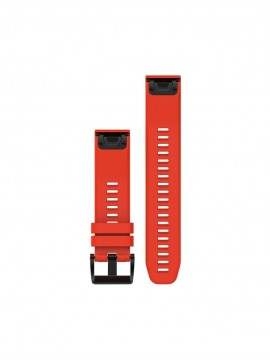 GARMIN QUICKFIT 22MM FLAME RED SILICONE STRAP