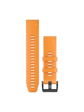 GARMIN QUICKFIT STRAP 22MM SOLAR FLARE ORANGE SILICONE