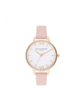 OLIVIA BURTON TIMELESS WOMEN'S WATCH IN GOLDEN STEEL AND PINK LEATHER STRAP
