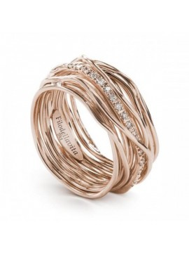 RUBINIA CLASSIC 13 WIRE FILODELLAVITE RING IN PINK GOLD AND WHITE DIAMONDS