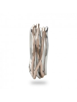 RUBINIA CLASSIC 7-WIRE FILODELLAVITA RING IN PINK AND SILVER GOLD