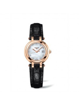 LONGINES WATCH ONLY TIME WOMAN GOLD BLACK LEATHER