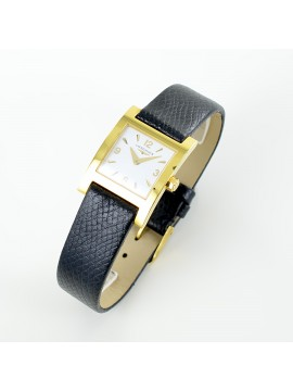 LONGINES WATCH-ONLY TIME 18 Kt GOLD WOMAN BLACK LEATHER