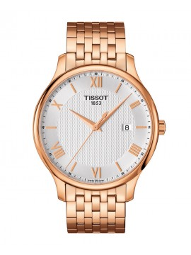 TISSOT CLOCK ONLY TIME TRADITION AL QUARZO IN ROSE STEEL