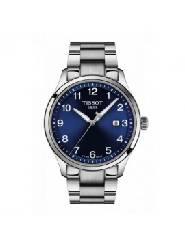 TISSOT WATCH ONLY TIME GENT XL CLASSIC IN STEEL DIAL BLUE