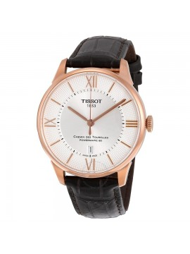 TISSOT WATCH CHEMIN DE TOURRELES POWERMATIC STRAP IN BROWN LEATHER