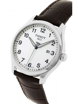 TISSOT WATCH ONLY TIME GENT XL CLASSIC STEEL STRAP LEATHER BROWN