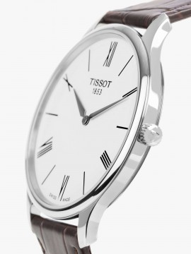 TISSOT CLOCK ONLY TIME TRADITION 5.5 STEEL STRAP LEATHER BROWN