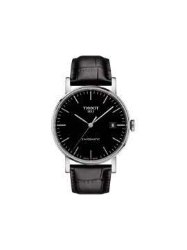 TISSOT EVERYTIME SWISSMATIC AND BLACK STRAP WATCH