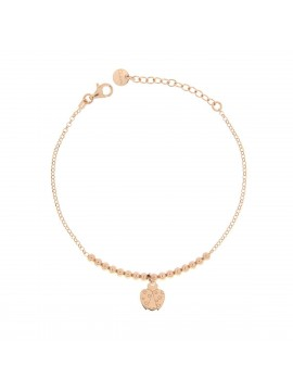 RUE DES MILLE BRACELET MICRO 1 SUBJECT LADYBUG SILVER ROSE GOLD PLATED