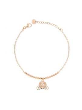 RUE DES MILLE MICRO BRACELET 1 SUBJECT CARRIAGE SILVER GOLD PLATED PINK