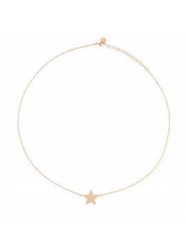 RUE DES MILLE NECKLACE 1 CENTRAL SUBJECT STAR SILVER ROSE GOLD PLATED