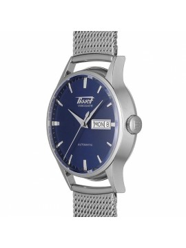 TISSOT HERITAGE VISODATE AUTOMATIC WATCH ONLY TIME STEEL DIAL BLUE