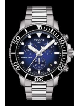 TISSOT SEASTAR 1000 CHRONOGRAPH STEEL CLOCK DIAL BLUE