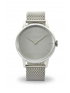 LOCMAN 1960 SINGLE-TIME STEEL WATCH WITH LIGHT GRAY DIAL AND MILANESE KNITTED BRACELET