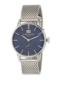 LOCMAN 1960 BIG DATA STEEL WATCH WITH BLUE DIAL AND MILAN KNIT BRACELET