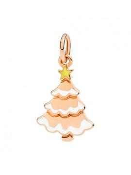 DODO CHRISTMAS TREE PENDANT IN ROSE 9K GOLD AND FLUORESCENT ENAMEL
