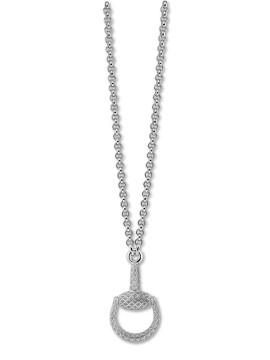 Gucci Horsebit light collana argento con pendente
