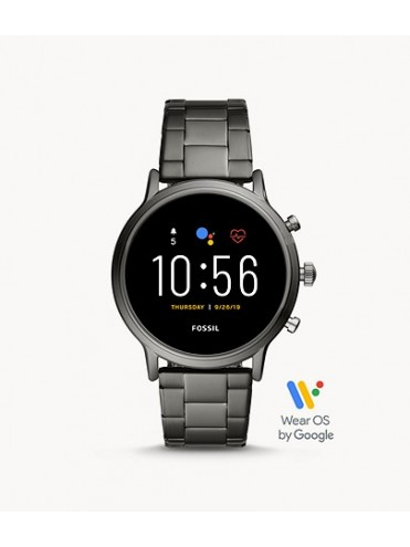 FOSSIL GEN 5 THE CHARLYLE HR SMARTWATCH WITH SMOKE GRAY STEEL BRACELET
