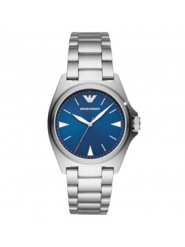 EMPORIO ARMANI NICOLA WATCH IN BLUE DIAL AND STEEL BRACELET