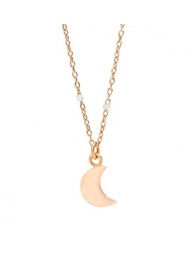 DODO 9K ROSE GOLD AND WHITE GOLD NECKLACE AND 9K PINK GOLD MOON PENDANT