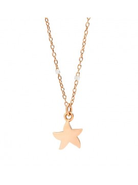 DODO 9K ROSE GOLD AND WHITE GOLD NECKLACE AND 9K ROSE GOLD STAR MARINE PENDANT