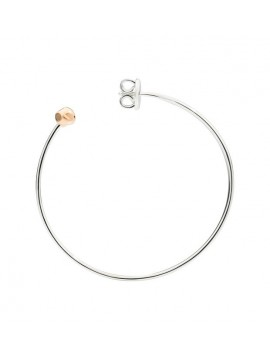 DODO MONO CIRCLE BANGLE EARRING IN SILVER 925 AND 9K ROSE GOLD