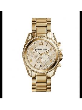 MICHAEL KORS Blair Orologio da Donna in Acciaio Gold con Cronografo e Datario