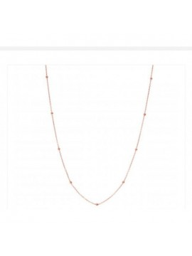 CHANTECLER 9K ROSE GOLD CHAIN NECKLACE WITH BALLS