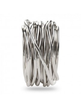RUBINIA FILODELLAVITA ROCK RING 22 WIRES IN SILVER 925 ENRICHED WITH PALLADIUM OR PLATINUM