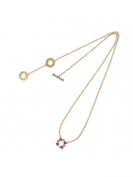 Chantecler Long necklace made of 18K Rose Gold with an Element in Amethyst and Pink Sapphires