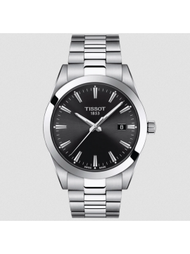 TISSOT GENTLEMAN WATCH ONLY TIME IN STEEL AND BLACK DIAL