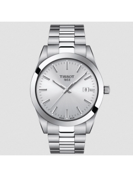 TISSOT GENTLEMAN WATCH ONLY TIME STEEL SILVER DIAL