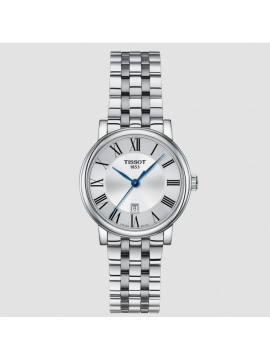 TISSOT CARSON PREMIUM LADY WOMEN'S WATCH ONLY TIME IN STEEL AND SILVER DIAL
