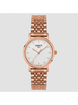 TISSOT EVERYTIME SMALL WOMAN WATCH IN ROSE GOLD PVD STEEL