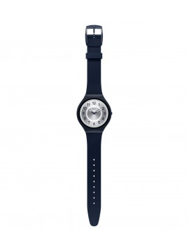 SWATCH SKINNIGHT BLUE CLOCK