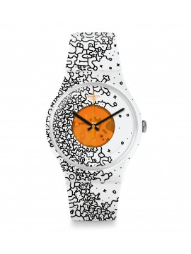 SWATCH ORANGE PUSHER WATCH