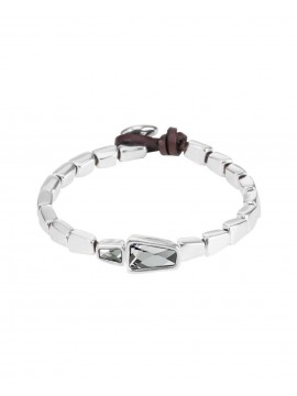 Uno de 50 Glamatic Bracelet in silver-plated geometric pieces with UNOde50's unique finishing touch.