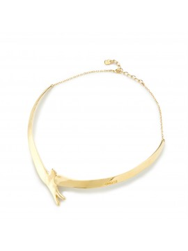 UNO DE 50 COME FLY WITH ME CHOKER YELLOW GOLD PLATING