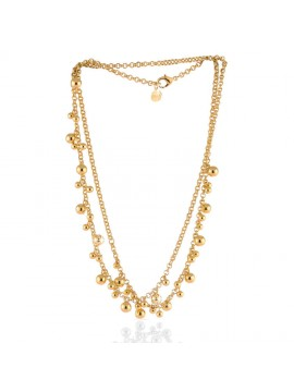 UNOAERRE LONG NECKLACE WITH ROLLO' CHAIN AND BALLS