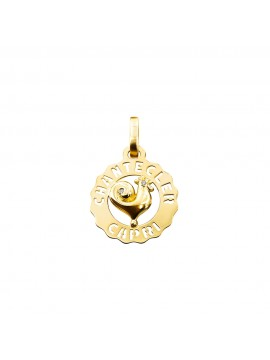 Chantecler Logo Small Rooster Charm in Yellow Gold and Diamond