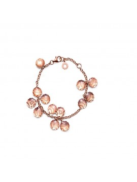 CHANTECLER Suamèm Bracciale multicharms in oro rosa 9Kt e smalto traparente